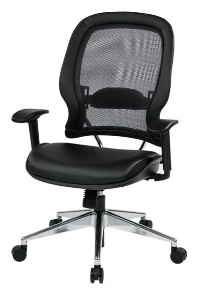 Professional Air Grid Back Chair w/Bonded Leather Seat OSP-335-E37P918P