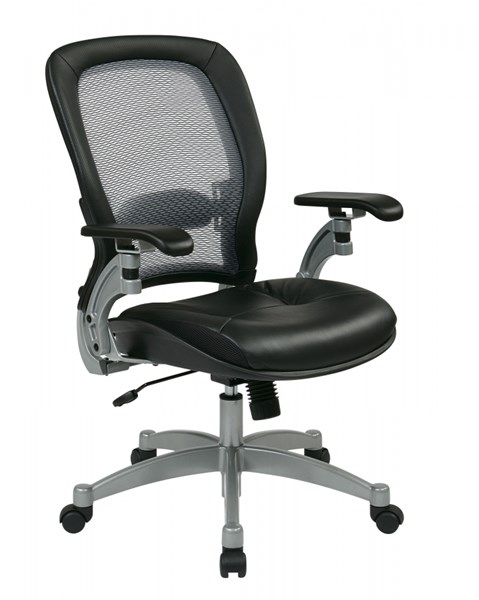 Professional Light AirGrid Chairs w/Leather Seat OSP-3680-CH-VAR