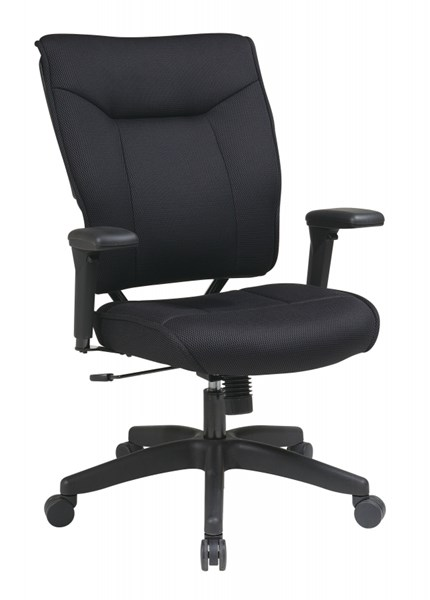 Black Professional Mesh PU Padded Adjustable Arms Executive Chair OSP-37-33N1A7U