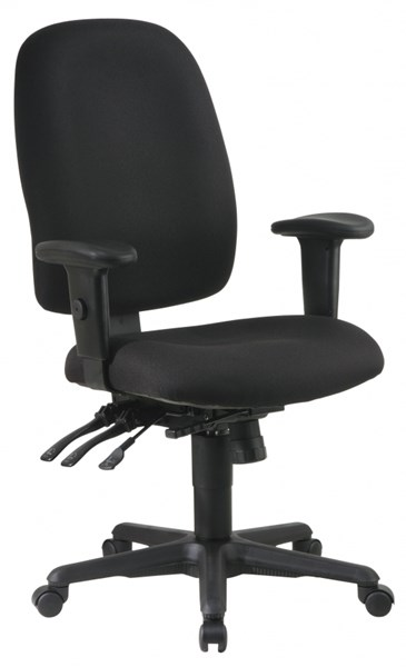 Black Ergonomics Chair w/Ratchet Back & Adjustable Arms OSP-43819-231 OSP-43819-231