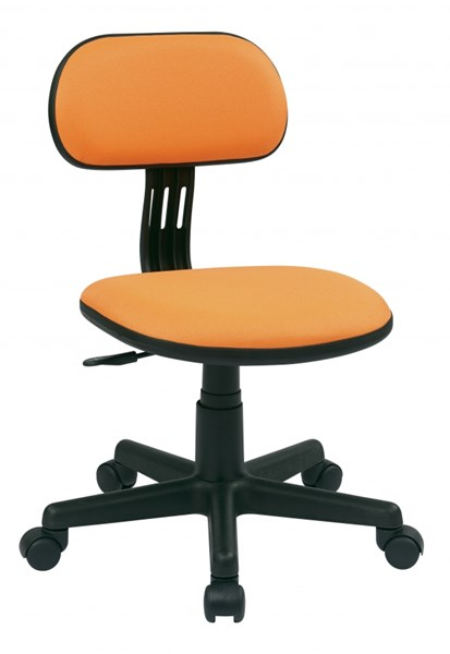 Orange Fabric Pneumatic Seat Height Adjustment Armless Task Chair OSP-499-18