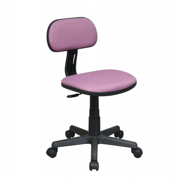 Purple Fabric Pneumatic Seat Height Adjustment Armless Task Chair OSP-499-512