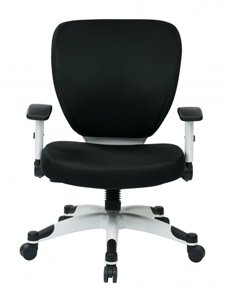 Pulsar Managers Chair w/Padded Mesh Seat & Back in Black OSP-5200W-3