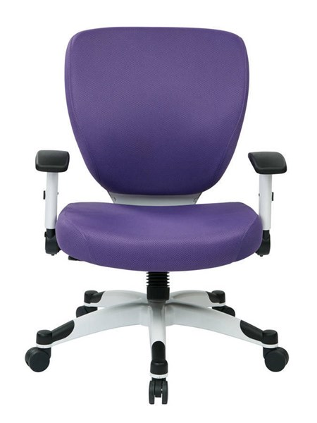 Pulsar Managers Chair w/Padded Mesh Seat & Back in Purple OSP-5200W-512