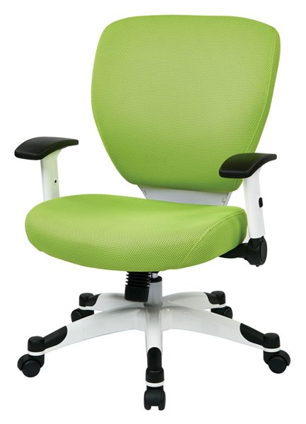 Pulsar Managers Chair w/Padded Mesh Seat & Back in Green OSP-5200W-6