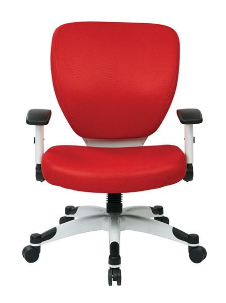 Pulsar Managers Chair w/Padded Mesh Seat & Back in Red OSP-5200W-9