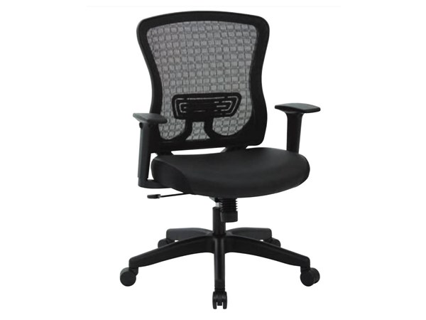 CHX Dark Breathable Mesh Back & Bonded Leather Seat Managers Chair OSP-525-E3G3N11