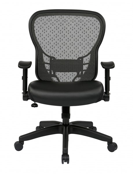 Deluxe R2 Back Chair w/Molded Foam Bonded Leather Seat & Flip Arms OSP-529-E3R2N1F2