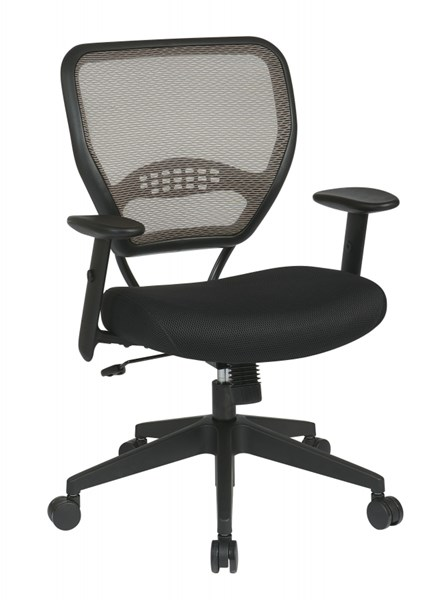 Contemporary Black Latte Deluxe Latte AirGrid Back Managers Chair OSP-55-38N17