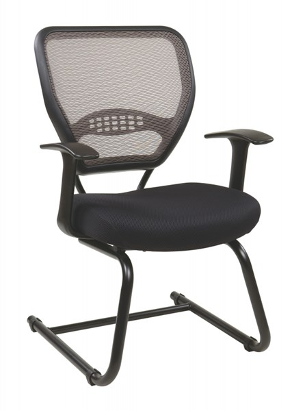 Contemporary Black Professional Latte AirGrid Back Visitors Chair OSP-55-38V30