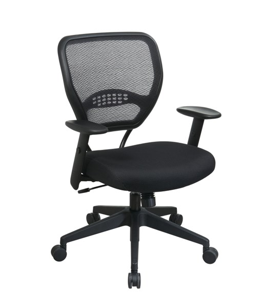 Black Professional AirGrid Back Managers Chair w/Mesh Fabric Seat OSP-5500
