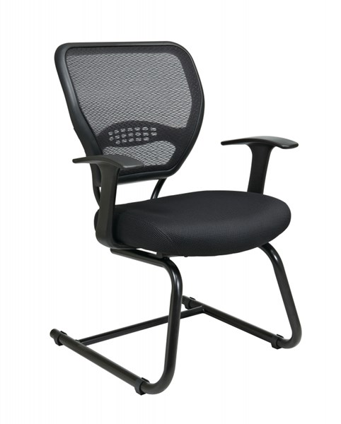 Black Professional AirGrid Back Visitors Chair w/Mesh Seat OSP-5505