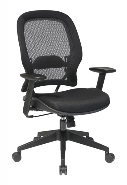 Black AirGrid Back & Mesh Seat Managers Chair W/o Headrest OSP-5540