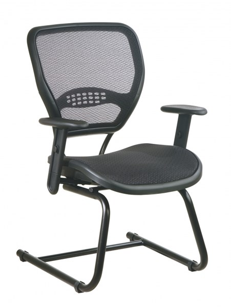 Black AirGrid Seat & Back Deluxe Visitors Chair OSP-5565
