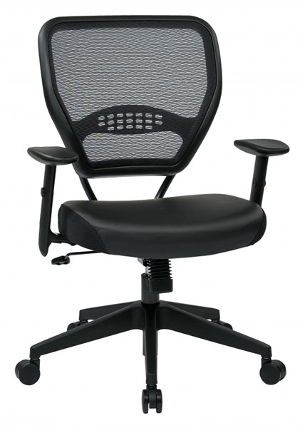 Dark Air Grid Back Black Bonded Leather & Caster Base Managers Chair OSP-5700E