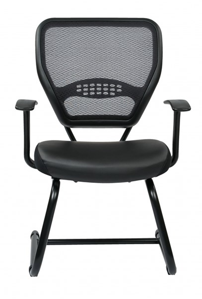 Professional Air Grid Back Bonded Leather & Sled Base Visitors Chair OSP-5705E