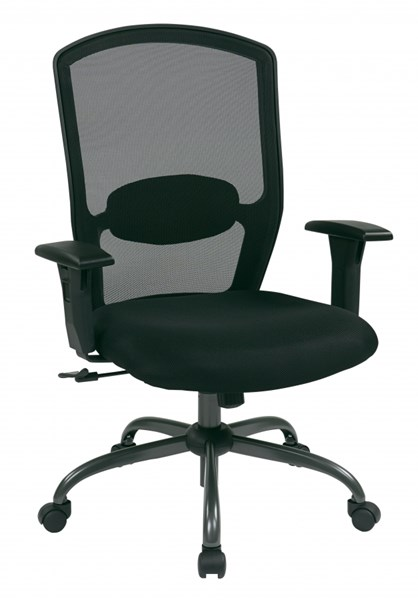 Ventilated Seating Black Screen Back Chair w/Mesh Seat OSP-583713