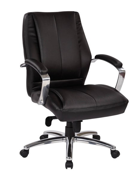 Deluxe Traditional Mid Back Executive Black Bonded Leather Chair OSP-60311