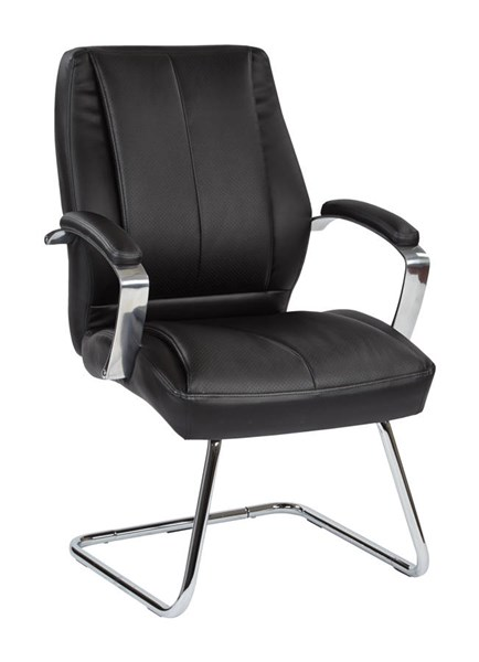 Deluxe Mid Back Executive Black Bonded Leather Visitors Chair OSP-60315