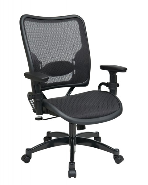 Black Gunmetal Professional AirGrid Seat & Back Chair OSP-6216