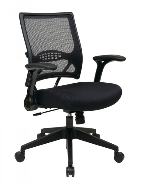 AirGrid Back & Black Mesh Seat Managers Chair w/2-to-1 Synchro Tilt OSP-67-37N1G5