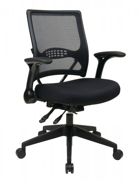 67 Series Black Gunmetal Multi Function AirGrid Back Manager Chairs OSP-67-MNGR-CH