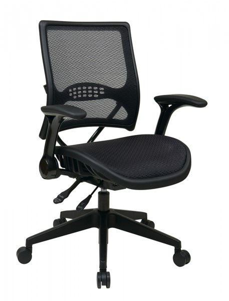 Professional Black Gunmetal AirGrid Back & Seat Managers Chair OSP-67-77N9G5