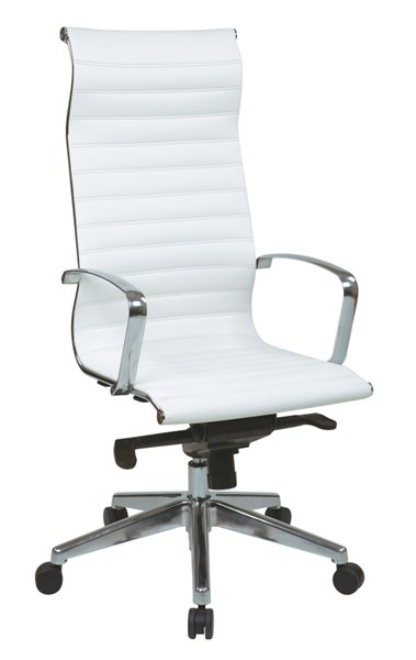 Modern High Back Black White Bonded Leather Chairs OSP-73-CH-VAR