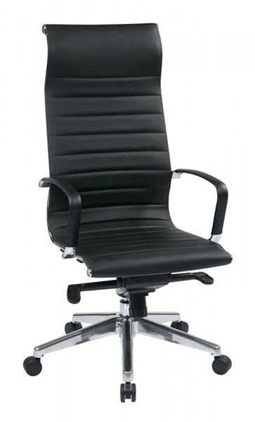 Modern High Back Black Bonded Leather Chair OSP-73603