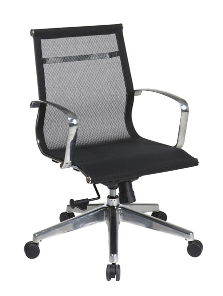 Black Mid Back Mesh Screen Back & Seat Chair OSP-7361MLT