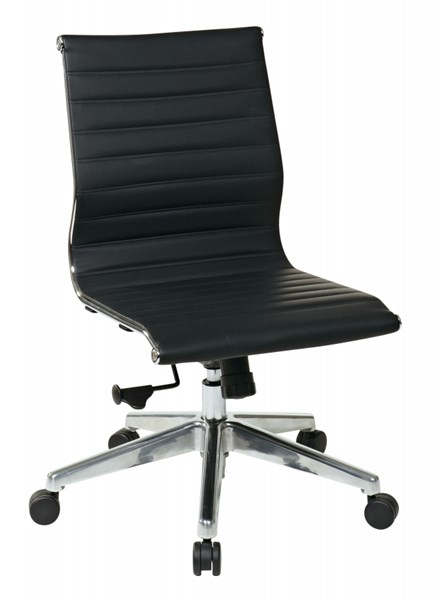 Modern Armless Mid Back Multi Bonded Leather Chairs OSP-7363-CH-VAR