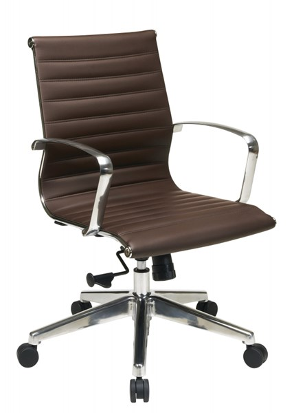 Modern Chocolate Mid Back Bonded Leather Chair OSP-74618LT
