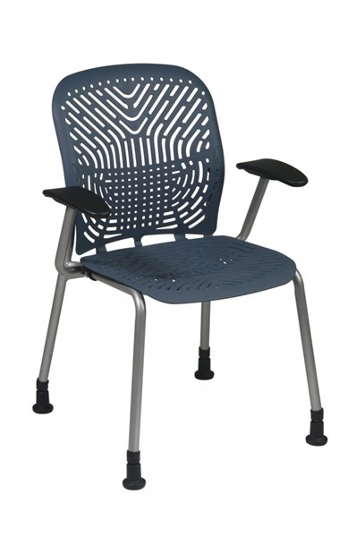 2 Blue Mist Grey Deluxe SpaceFlex Seat & Back Arm W/o Casters Chairs OSP-801-776AG