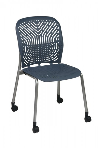 2 Blue Mist Deluxe SpaceFlex Flex Seat & Back Casters W/o Arm Chairs OSP-801-776C