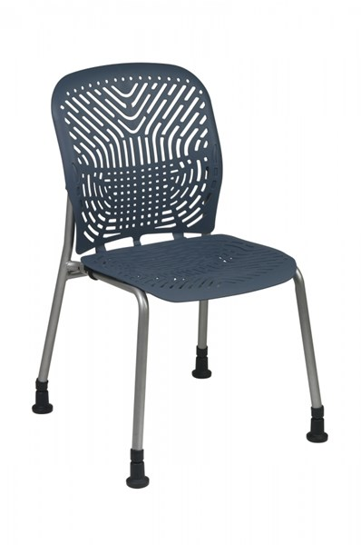 2 Blue Mist Deluxe SpaceFlex Seat & Back W/o Casters & Arm Chairs OSP-801-776G