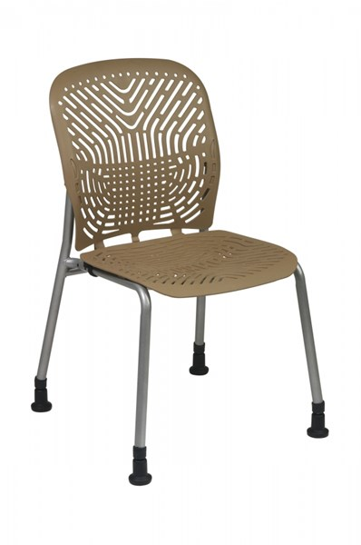 2 Latte Grey Deluxe SpaceFlex Seat & Back W/o Casters & Arm Chairs OSP-801-886G
