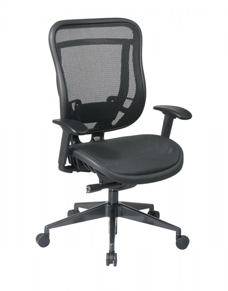 Black Brethable Mesh Metal High Back Adjustable Arms Executive Chair OSP-818-11G9C18P
