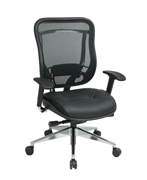Black Breathable Mesh Metal Leather Grid Back Executive Chair OSP-818A-41P9C1A8