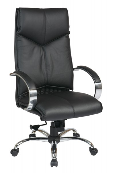 Black Deluxe High Back Leather Executive Chair OSP-8200