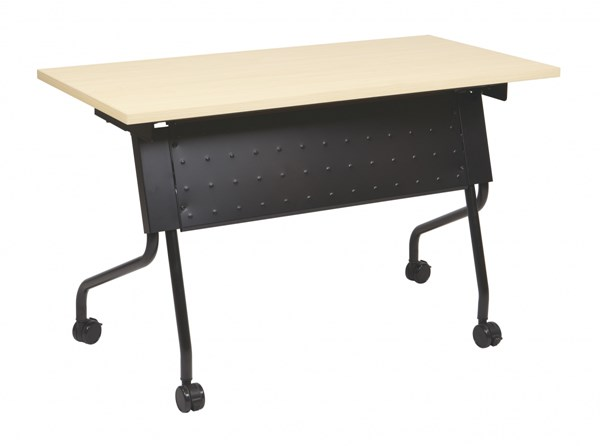 4 Ft. Training Table Black Frame & Maple Top OSP-84224BP