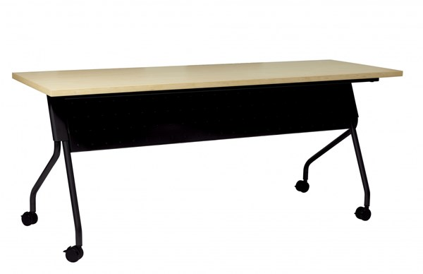 6 Ft. Training Table Black Frame & Maple Top OSP-84226BP