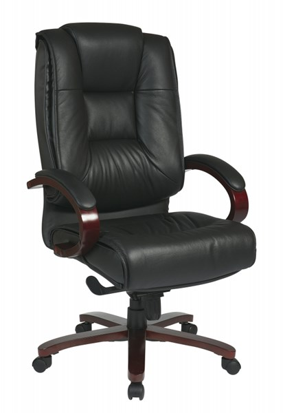 Black Mahogany Deluxe High Back Leather Executive Chair OSP-8500