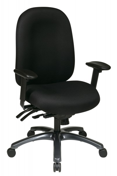 Black Multi-Function High Back Chair w/Seat Slider OSP-8511-231