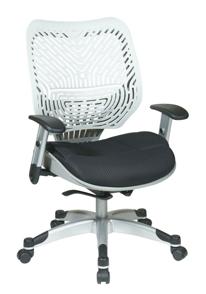 Black White Unique Self Adjusting Ice SpaceFlex Back Managers Chair OSP-86-M32C625R