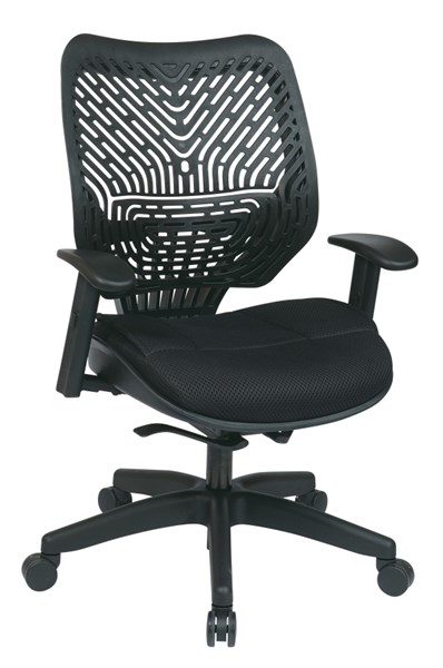 Black Unique Self Adjusting SpaceFlex Back Managers Chair w/arms OSP-86-M33BN2W
