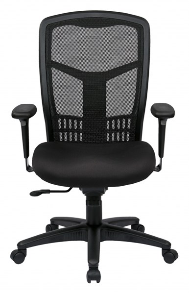 Black Bonded Leather ProGrid High Back Managers Chair OSP-90662-30