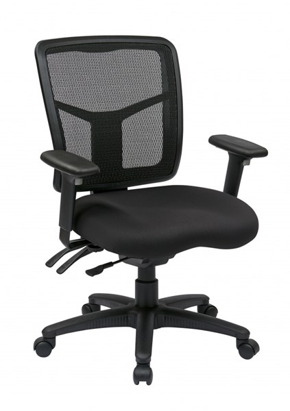 Modern Black ProGrid Mid Back Bonded Leather Managers Chair OSP-92343-30