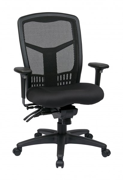 Modern Coal Bonded Leather ProGrid High Back Managers Chair OSP-92892-30