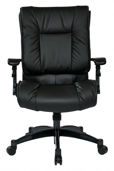 Black Bonded Leather Metal Nylon Conference Chair OSP-9333E