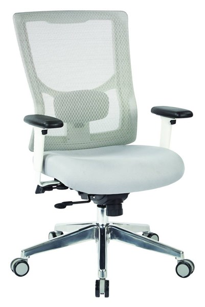 ProGrid Mesh Fabric High Back 2-Way Adjustable Arms Ratchet Back Chair OSP-95672